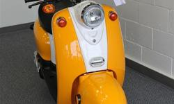 Saga Retro 50cc 4-Stroke Gas Scooter This sporty little one seat scooter is designed with a classic motif yet has no problem keeping up with today?s traffic. A 50cc motor propels this 4 stroke motor up to 70kmh but still gets a stunning 100 mpg. It is a