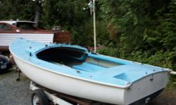 19 ft oday sailing dinghy complete with all sails and trailer
