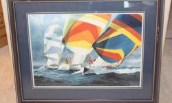 SAILING PRINT - FRAMED LIMITED EDITION - PRODUCED BY GAM SAILING MAGAZINE PUBLISHERS