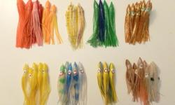 Salmon lures, good selection of Hootchies, Plugs, Jigs and Viking scale.