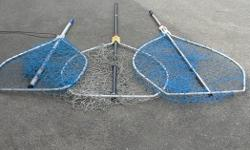 """SALMON NET. LARGE SCOTTY SALMON NET. 31 in. or 80 cm. across. With a 61 in. or 155 cm. handle. in good to very good condition. Its a house number so texting will not work. """"""""DO NOT"""""""" CALL BEFORE 8 am. OR AFTER 9:00 pm. CASH ONLY. PICKUP ONLY VIEW MAP for"""