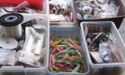 """SALT WATER FISHING LURES. I have lots of lures at mostly between $.50 and $2.00 each Its a house number so texting will not work. """"""""DO NOT"""""""" CALL BEFORE 8 am. OR AFTER 9:00 pm. CASH ONLY. PICKUP ONLY VIEW MAP for general location. View poster's list for"""