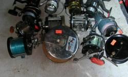 (((Open this ad to view all that is listed.)) SALT WATER FISHING REELS. $10.00 to $30.00 - SALT WATER SPINNING REELS. All reels are in good to very good condition $12.00 to $20.00 - FOR ALL OTHER SALT WATER TROLLING REELS. Its a house number so texting