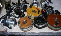 (((Open this ad to view all that is listed.))) SALT WATER FISHING REELS. (((GO BY THE LIST NOT THE PICTURES.))) $50.00 - DAIWA M ONE MOOCHING REEL. Double action reel. $40.00 . 6 in. PEETZ REEL. $50.00 - 6 in. PEETZ REEL. I have 2 at $50.00 each. (SOLD) -