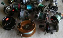 (((Open this ad to view all that is listed.)) SALT WATER FISHING REELS. $10.00 to $30.00 - SALT WATER SPINNING REELS. $12.00 to $60.00 - FOR ALL OTHER SALT WATER TROLLING REELS. All reels are in good to very good condition Its a house number so texting