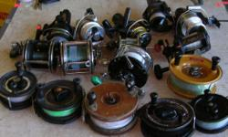 (((Open this ad to view all that is listed.)) SALT WATER FISHING REELS. $50.00 - 6 in. PEETZ REEL. $25.00 - 5 in. PEETZ REEL. $45.00 - SHIMANO MOOCHER 100 GT REEL. I have 3 at $45.00 each. $30.00 - SHIMANO MOOCHER 200 GT TROLLING REEL. $10.00 to $30.00 -