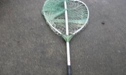 """SALTWATER FISHING NET. 22 in. or 56 cm. wide. In good to very good condition. Its a house number so texting will not work. """"""""DO NOT"""""""" CALL BEFORE 8 am. OR AFTER 9:00 pm. CASH ONLY. PICKUP ONLY VIEW MAP for general location. View poster's list for this"""
