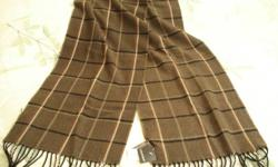 """This is a brand new item. Men's fine quality (Danier) dress scarf Size: 11"""" wide by 5' long"""