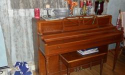 For Sale - A beautiful Schubert Piano and Bench. Might need to be tuned as it has not been played in a while. Price is $650 firm. Would make a nice piece of furniture, or a great Christmas present for the musician in your family. Will not last long at