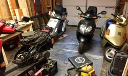 I restore mostly vintage scooters, but, I do restore later models as well. I am retired and work out of my shop at my home in Duncan. I currently have several finished scooters for sale and need the room in my shop to continue restoring others. I