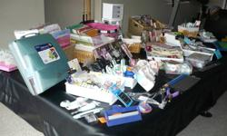 Lots of inventory of Stamping Up, Martha Stewart, K & D Supplies for card making & scrapbooking. All supplies paper, ink, glue, pens, paper, card board, embellishments, stamps,tools everything you need for this wonderfull hobbie. Individual prices from