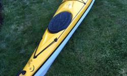 This beautiful kayak is a high performance, skegged kayak with a multichined hull. It has great manoeuvrability, with easy edging and good stability, and performs well in all conditions. Plenty of storage in fore and aft hatches, as well as a handy day