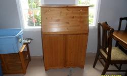 solid pine secretary made by the owner perfect for a student ..