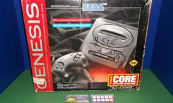 Item: Sega Genesis Model #2 console complete in the original box. Comes with everything you need to get going. Console is in great condition. Box has some signs of wear as seen in the photo. Also has written in marker $5.00 from being sold at a yard sale