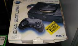 Item: This Sega Saturn console is in over all excellent condition and has been fully tested. Comes in the original box for the Sega Saturn. Box has some wear as shown in the photo. Console bundles all come with the same package including AV cord, power