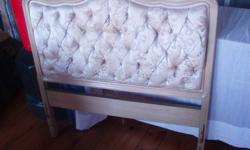 We are selling several headboards. The first has a cushioned backing and is a sort of goldish colour while the other two are plain brown wood.   Pick-up only. Contact for more information or prices.