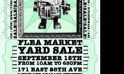 Saturday September 15th - 10am - 630pmMulti person yard sale flea market! (Located just off of main and 28th!-