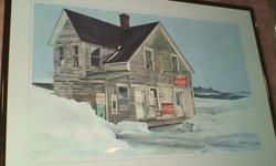 ....a set of 10 metal framed prints, that have been gallery professionally framed (each w/wire hanger) in the *Vanishing Rural Buildings of Canada* series..   *from our non-smoking home*   *10 different scenes - one scene from each CDN province is