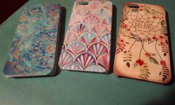 Like new condition. Nice 3 different designs and colors. Fit all iPhone 5 serie. All 3 for $10