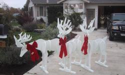 Sets of 3 deer, painted and unpainted large painted set $150 large unpainted set $90 small painted set $80 small unpainted set %50