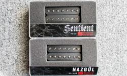 A set of Seymour Duncan 7 string guitar pickups. Nazgul/Sentient Bridge/Neck combo. Brand new, still in box. Great for clarity and registering low tuning while playing. $200 for the set obo