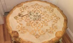 """Sweet shabby chic low table for sale. Good vintage condition, used in my shop fitting room. Dimensions 35.5"""" diameter, 20"""" height Selling as I have closed down my tailoring business. I am selling all equipment and furnishings so please see my other"""