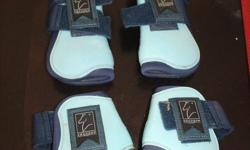 Baby blue brushing boots used only a handful of times for show,s in excellent condition! Would like to sell as a pair