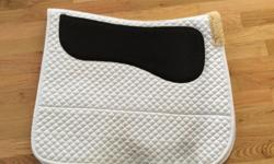 Shedrow non-slip white dressage pad for sale. In good condition - some wear on the bottom. Greenhawk sells these for $90.00 plus tax. Asking $50.00.