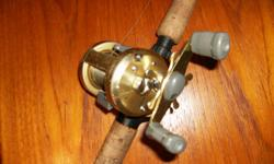 Shimano Calcutta 400 & Shimano Med Light Action Steelhead rod. The reel appears a little scratched but it is in good working order, and the rod at 10.6 feet is in excellent condition $250 for the pair.