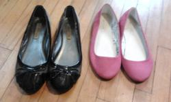 I have way too many shoes, trying to downsize. All shoes are in great condition (I take care of my babies haha) none are more than 3 years old! pic 1: grey and black patent leather flats size 7, hot pink canvas flats (never worn outside, they were the