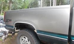 I have a short box from a 1998 Chevrolet z71 for sale clean no rust 1 small dent at bottom . $450 . located in yellow point.