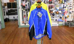 Shop and compare! Showers Pass rain gear at last year's prices. The Transit jacket is weatherproof and rugged with lots of 3M reflective trim. It's cut perfectly for layering over bulky street clothes Women's: small and large in yellow; medium, large and