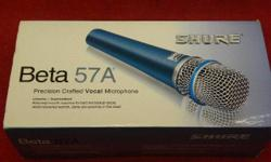 Shure Beta supercardioid lead vocal microphone, Beta 57A model, item #144311-2. Price of $133 includes all taxes. Please refer to inventory #144311-2 when inquiring. We also have more items for sale at The Bay Street Broker located on the corner of Bay