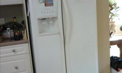 THIS IS A FRIGIDAIRE GALLERY SIDE BY SIDE FRIDGE WITH ICE AND WATER MAKERS IN THE FREEZER SIDE. IT IS 2002 AND HAD A NEW COMPRESSOR INSTALLED IN 2008 WORKS WONDERFULLY BUT WE MUST SELL AS IT DOES NOT FIT OUR NEW HOME. THE SALE WILL HAVE TO BE CONDITIONAL