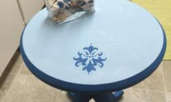 Chalk Painted & Waxed Side Table