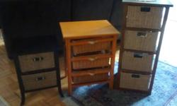 Side tables with drawer