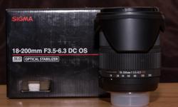 Sigma 18-200mm f3.5-6.3 dc os Nikon mount lens excellent condition