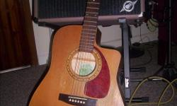 Great sounding and playing guitar, WITH NICE HS CASE. B Band pickup. All cedar. Battery door latch not working (taped shut). $340 O.B.O.