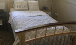 Beautiful bed nearly new.... solid wood, this is a quality bed. Moving and no room in new house.
