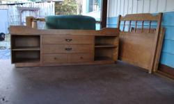 single captains bed  with good mattress