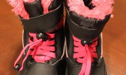 Just in time for the season! This size 4 pair of girl's winter boots is in brand new condition. Plenty of fluffy pink liner and tread. Only $5!