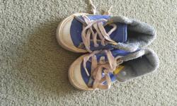 Blue shoes with laces. Size: 6