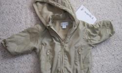 Children's Place size 6-9 months tan jacket. Asking $3.