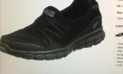 Skechers Sport wome's sneakers black size 7.5 used just couple times, wrong size for me, nice and soft shoes