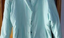 Ladies pastel green ski jacket Excellent condition Size 10-12