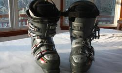 Rossignol 160 B2 Bandit mid fat skis in good condition. Base is excellent. Rossignol Axitec 100 power binding. All round skis, they are highly rated and mellow for deep powder and groomed slopes. $ 75.00 firm Nordica Easy Move boots are versatile and