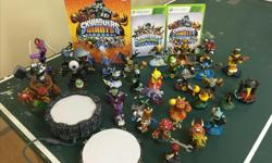 2 portals - Giants and Swap force - 2 game disks 5 Giants, 16 Skylander (giants) characters, 7 Swap force swappers, 3 Skylander (swap) characters and Skylander Giants character hint/tip book.