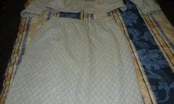 Elasticated waist, Made in Canada. 50% Cotton 50% Polyester. Very smart when on.
