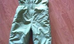 I have like new green very warm snow pants for sale. Size 3. It has zipper on the legs and Velcro to keep uncles warm and out snow. Bought it from the Children's place paid $25+tax on sale. Asking $10 firm.