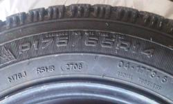 Selling  4 snow tire and rims only used for one snow season there is good tread left on tires.   Very good deal for this tire.     Tire size P17565R14